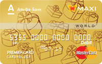 Альфа-Банк – Картка «Максимум Готівка» MasterCard Gold гривні