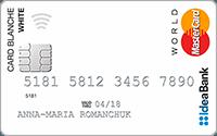 IdeaBank – «Card Blanche» MasterCard гривні