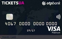 ОТП Банк — Карта «Tickets Travel Card» Visa Platinum гривны