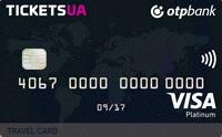 "ОТП Банк – Карта ""Tickets Travel Card"" Visa Platinum гривні"