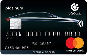ОТП Банк — Карта «Для автомобилистов. Global Auto Card» MasterCard World гривны