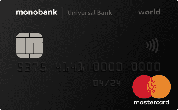 Monobank — Карта «Monobank» MasterCard World гривны