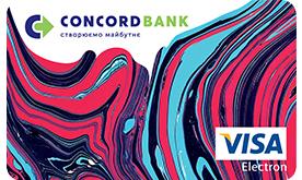 Банк Конкорд — Карта «Наличные до зарплаты» Visa гривны