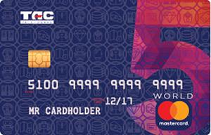 Таскомбанк – Картка «Велика п'ятірка» MasterCard World гривні