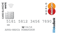 IdeaBank — «Card Blanche White» MasterCard World гривны