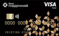 Банк Пивденный — Карта «Мрийка» Visa Gold гривны