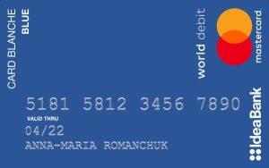 IdeaBank — «Card Blanche Blue» MasterCard World гривны
