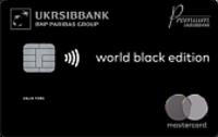 УкрСибБанк — Карта «Black Edition» MasterCard Gold Contactless гривны