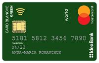 IdeaBank – Карта «Card Blanche Debit Fund Green» Mastercard Debit гривны