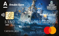 Альфа-Банк – Карта «World of Warships» Debit World MasterCard Platinum Black гривны