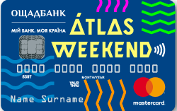Ощадбанк — Карта «Atlas Weekend» MasterCard Prepaid гривны