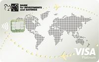 Банк инвестиций и сбережений – Карта «Platinum VIP» Visa Platinum доллары