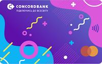 Конкорд Банк – Карта «One» Mastercard Debit World Instant евро