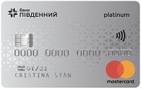 Банк Пивденный – Карта Престиж Mastercard Platinum доллары