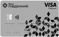 Банк Пивденный – Карта Престиж Visa Platinum гривны
