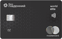 Банк Пивденний – Карта Mastercard World Elite доллары