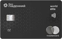 Банк Пивденний – Карта Mastercard World Elite евро