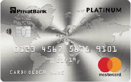 ПриватБанк – Карта Mastercard Platinum гривны