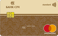 Банк Сич – Карта MasterCard Standard