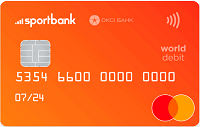 Sportbank – Карта Mastercard World Debit гривны